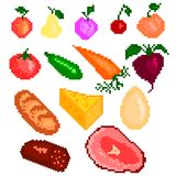 Food pixelart Stock Photography