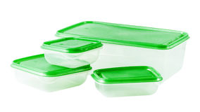 Food plastic containers Stock Photo