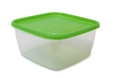 Food plastic containers on white Stock Photography