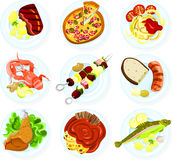 Food on a plate royalty free illustration