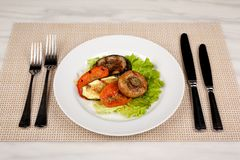 Food in the plate stock photos