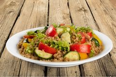 Food. Plate salad appetizer onion dish vegetarian stock images