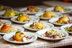 Food on the plate Royalty Free Stock Photography