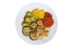 Food plate with vegetables Stock Image