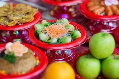 Food plates prepared for the believers Royalty Free Stock Photography