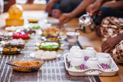 Food on plates Royalty Free Stock Photos
