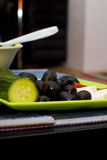 Food on a platter stock images