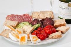 Food Platter, Cheese, Salami Royalty Free Stock Photos