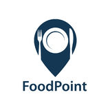 Food point icon. Image of food point icon vector illustration