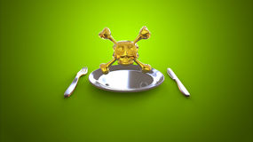 Food and poison Royalty Free Stock Photo