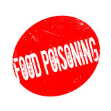 Food Poisoning rubber stamp Royalty Free Stock Photography