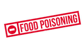 Food Poisoning rubber stamp Royalty Free Stock Photos