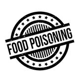Food Poisoning rubber stamp. Grunge design with dust scratches. Effects can be easily removed for a clean, crisp look. Color is easily changed Royalty Free Stock Photography
