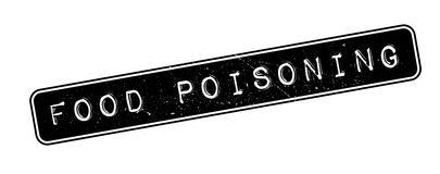 Food Poisoning rubber stamp Stock Photo