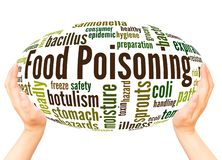 Food Poisoning word cloud hand sphere concept royalty free stock photos