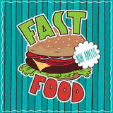 Food poster with Fast Food Royalty Free Stock Images