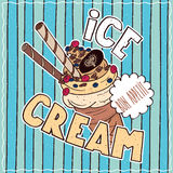 Food poster with Ice Cream Stock Photos
