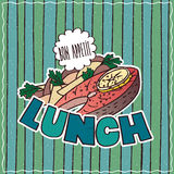 Food poster with Lunch Royalty Free Stock Images