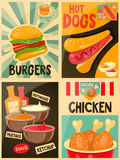 Food posters collection Stock Photography