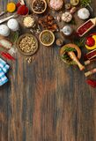 Food preparation from above Royalty Free Stock Photo