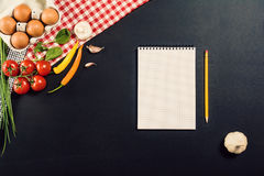 Food preparation background with pasta ingredients. Top view. Stock Images