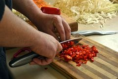Food preparation royalty free stock photography