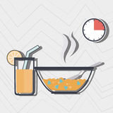 Food preparation instructions design. Illustration eps10 graphic Royalty Free Stock Photo