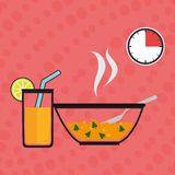 Food preparation instructions design. Illustration eps10 graphic Royalty Free Stock Photos