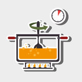 Food preparation instructions design. Illustration eps10 graphic Stock Photo