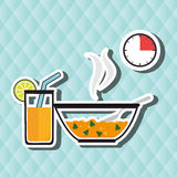 Food preparation instructions design. Illustration eps10 graphic Stock Image
