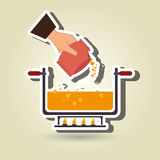 Food preparation instructions design. Illustration eps10 graphic Royalty Free Stock Images