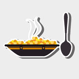 Food preparation instructions design. Illustration eps10 graphic Royalty Free Stock Image