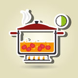 Food preparation instructions design. Illustration eps10 graphic Stock Images