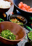 Food preparation: salsa Royalty Free Stock Image