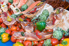 Food prepared traditional market Royalty Free Stock Image