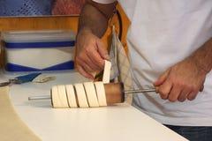 Food. Preparing a kurtoskalacs Stock Image
