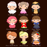 Food Princess Vector Set Royalty Free Stock Photography