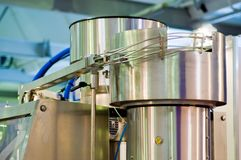 The food-processing industry equipment. royalty free stock photo