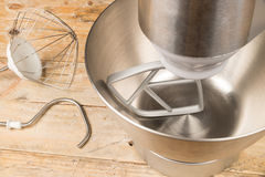 Food processor with accessories Royalty Free Stock Image
