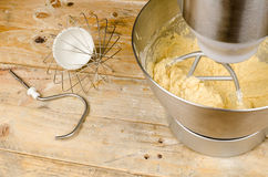Food processor with beater tool Royalty Free Stock Photos
