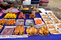 Food product for traveller buying eat at local night market Royalty Free Stock Images