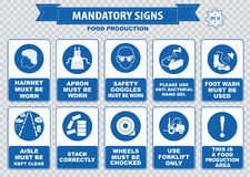 Food Production Mandatory Signs Royalty Free Stock Image