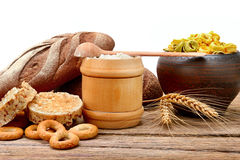 Food products made from wheat Stock Images