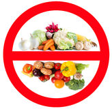 Food prohibited for import into the country. Stock Photo