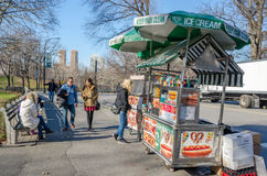 Food Pushcart in Central Park Royalty Free Stock Photography