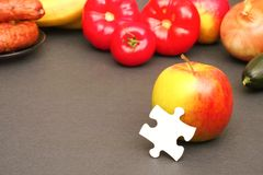 Food puzzle Royalty Free Stock Photo