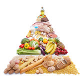 Food pyramid. Represents way of healthy eating Royalty Free Stock Photography