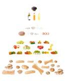 Food pyramid. On a white background Stock Photos