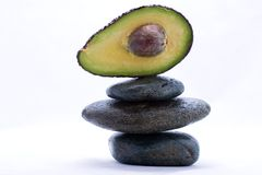 Food pyramid - avocado Royalty Free Stock Image