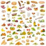 Food Pyramid. Isolated on white background Royalty Free Stock Photo